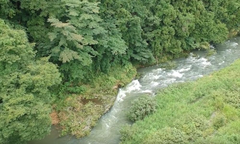 【ドローン 飛ばせる場所】埼玉県小川町の川付近 DJI SPARK(スパーク)で空撮してきた