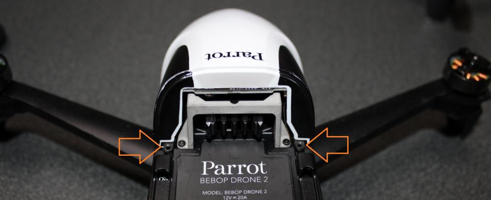 【Parrot Bebop2 分解】ゴムダンパー、ノーズ、カメラの交換方法