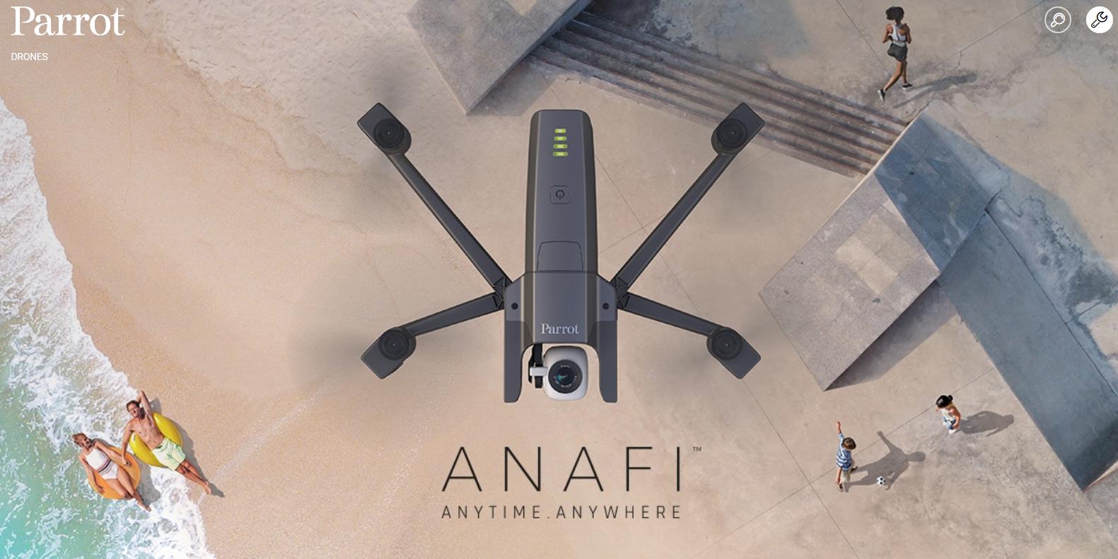 Parrot社から、新型ドローン「ANAFI」登場!気になるスペックの紹介