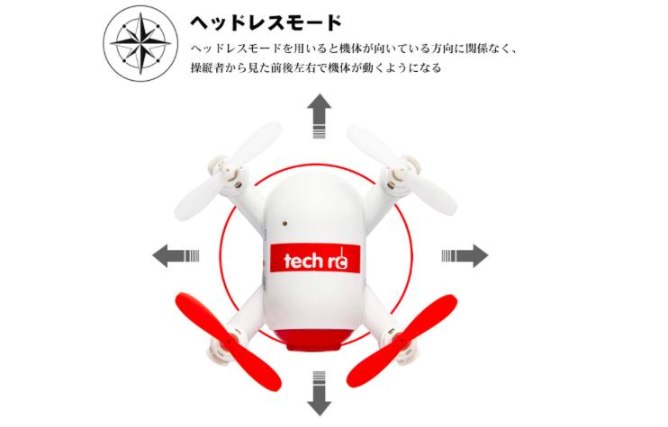 【200g未満】ミニドローン Tech rc TR006W レビュー