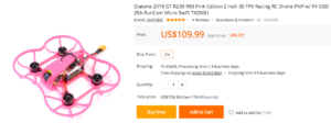 Diatone 2019 GT R239 R90 Pink Edition 2インチドローンの紹介