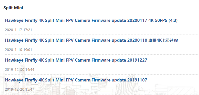 Hawkeye Firefly Split Mini 4Kカメラ レビュー【Runcam Hybrid 4kとの比較も】