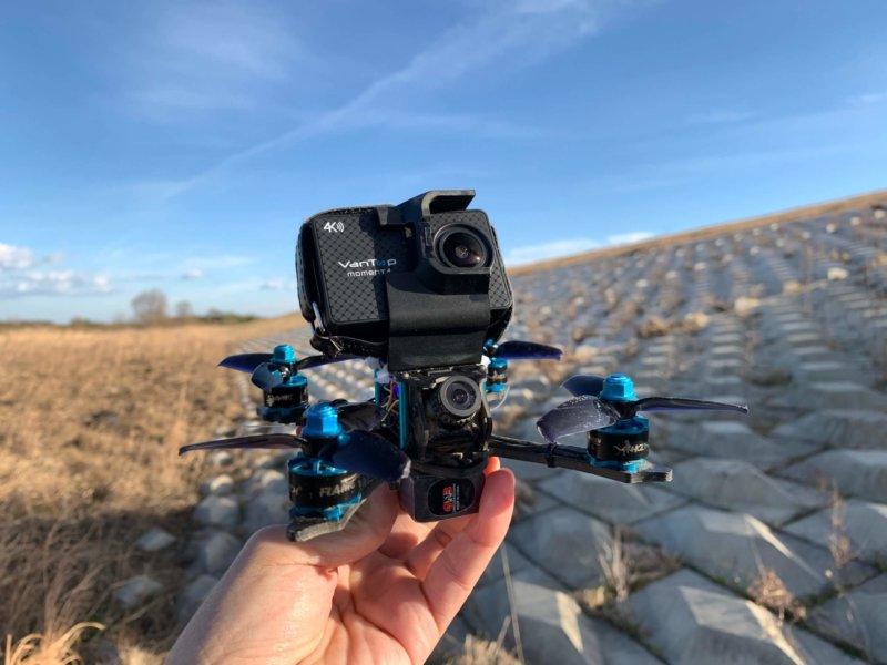格安4Kアクションカメラ VANTOP MOMENT4 実機レビュー【ドローンに搭載】
