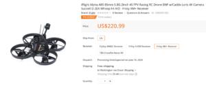 iFlight Alpha A85 4Kマイクロドローン発売開始