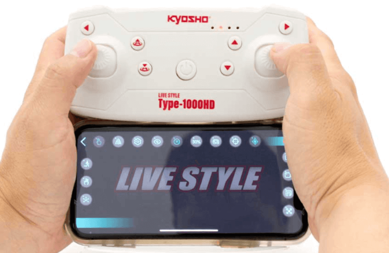 【200g未満】京商 LIVE STYLE Type-1000HDドローンの紹介!kyosho