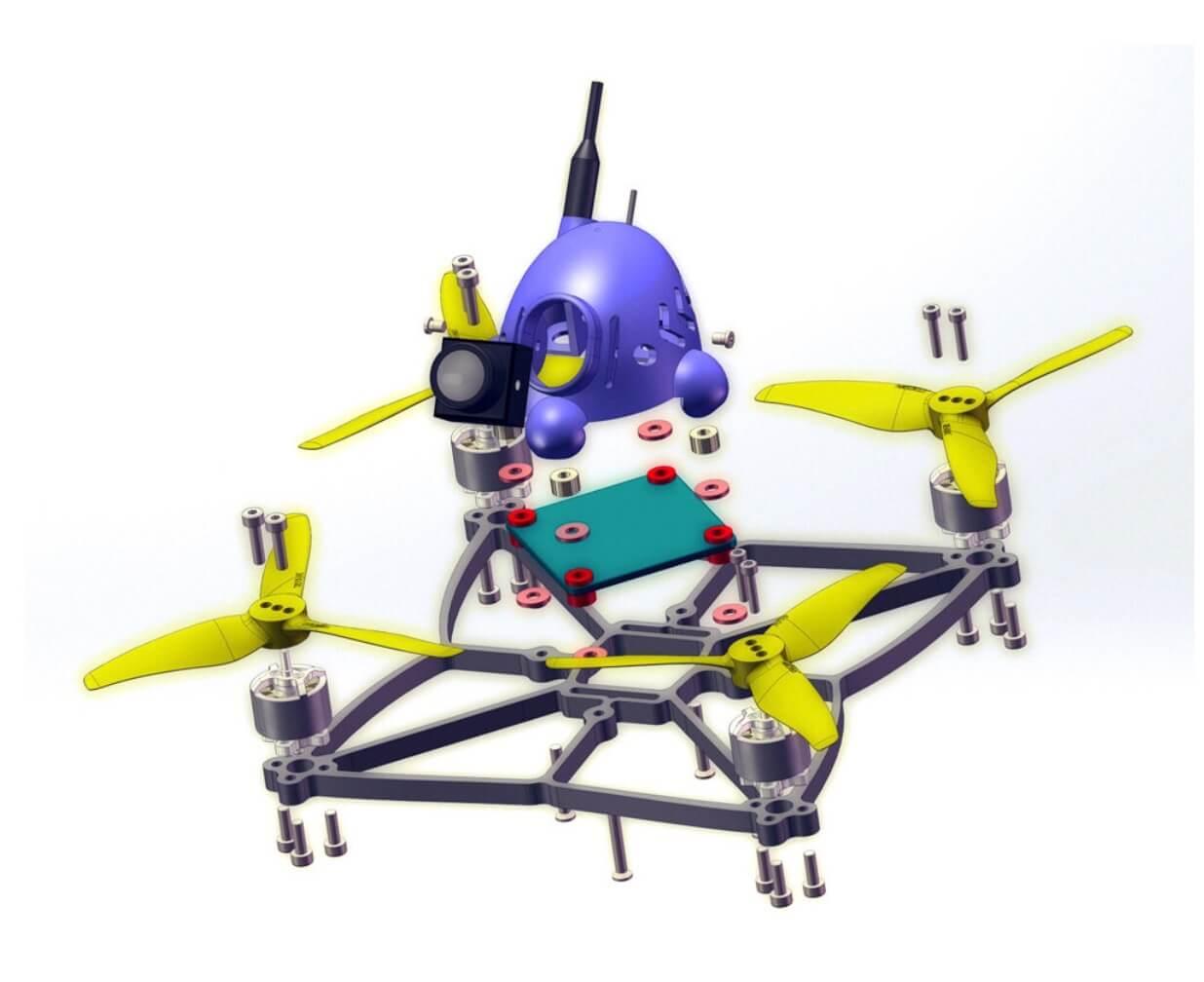 Stardrone Octopus 130mm おもしろいドローン発売