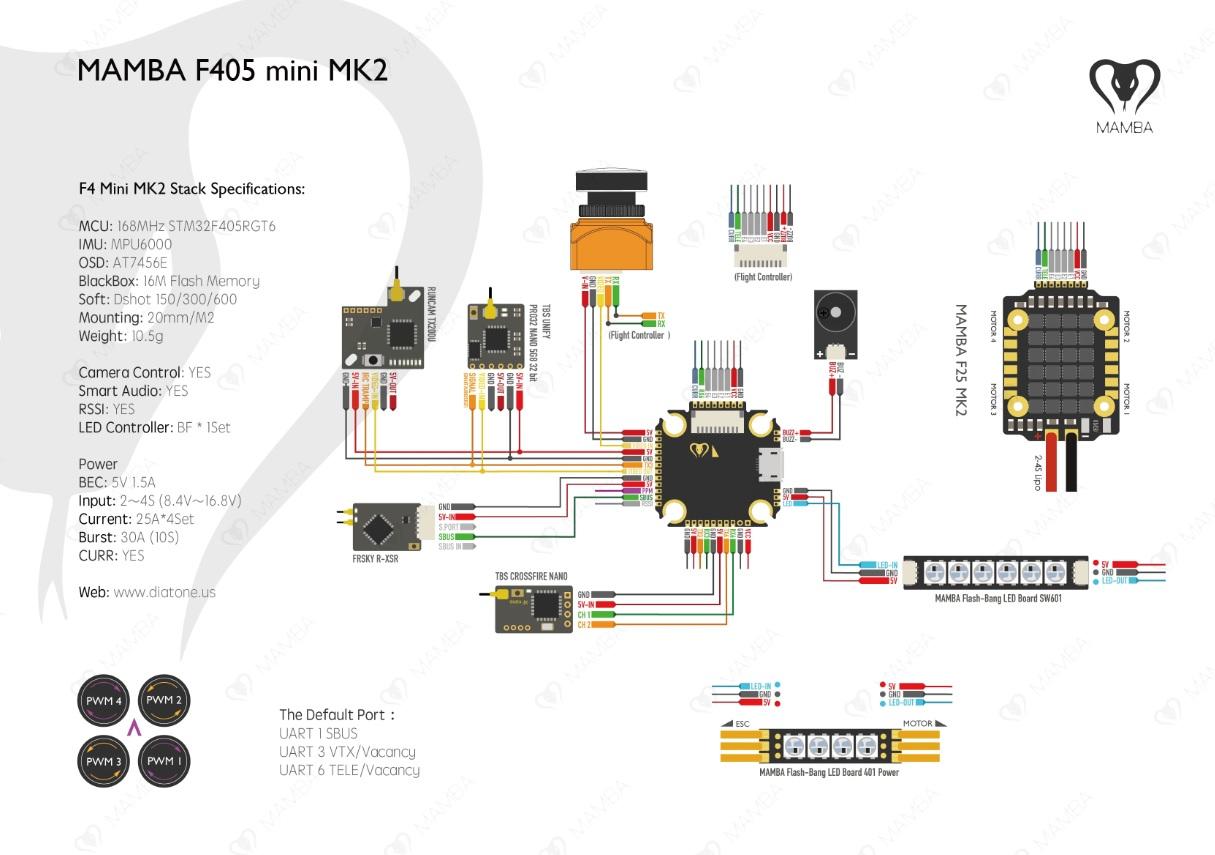 Mamba F405 mini MK2 manual(FC回路図)