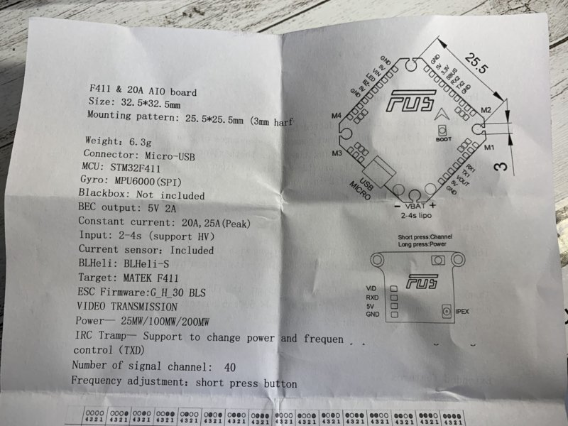 FUS X111 2.5Inch 111mm ドローン レビュー!Gopro lite搭載にいいかも