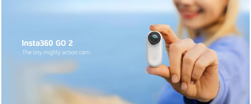 軽量 手ブレ補正付き小型カメラ Insta360 GO2 販売開始