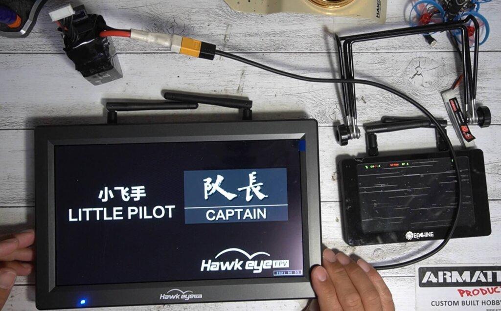 Hawkeye Little Pilot Captain10 FPVモニター レビュー